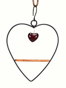 Black Tweet Heart Hummingbird Swing