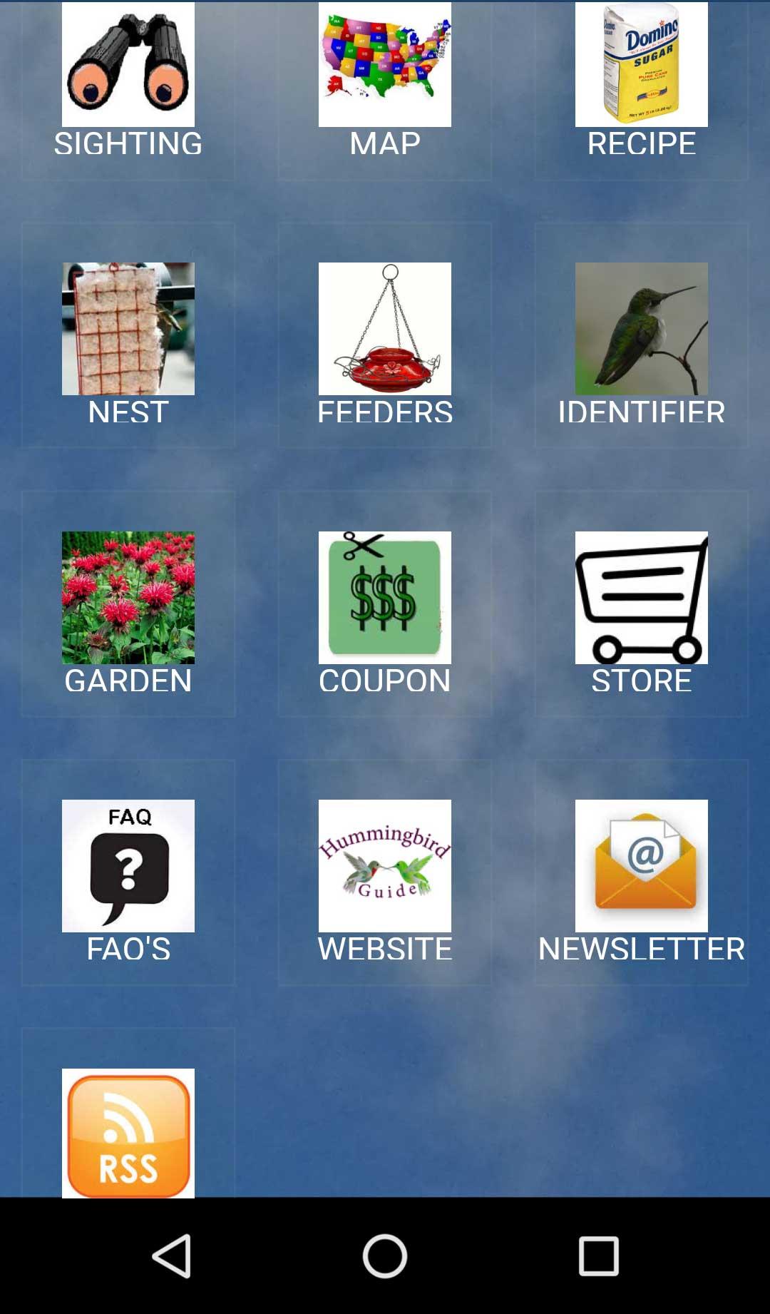 Hummingbird Migration Mobile App Home