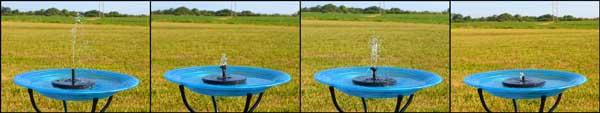 Floating Solar Birdbath Bubbler Nozzles