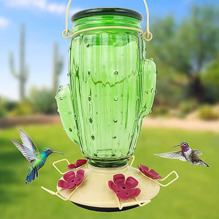 Cactus Top Fill Hummingbird Feeder