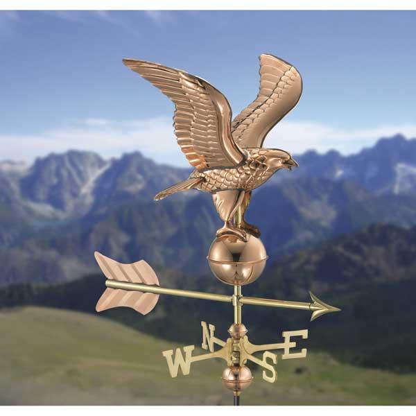 Eagle Polished Copper Garden Weathervane