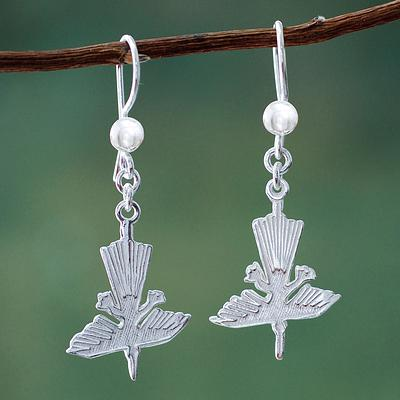 Legendary Hummingbirds Nazca Lines Hummingbird Sterling Silver Earrings from Peru