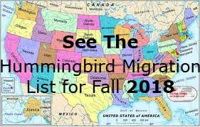 Hummingbird Migration Map Hummingbird Migration Fall 2017. Sightings for Fall 2017. Hummingbird Migration Map