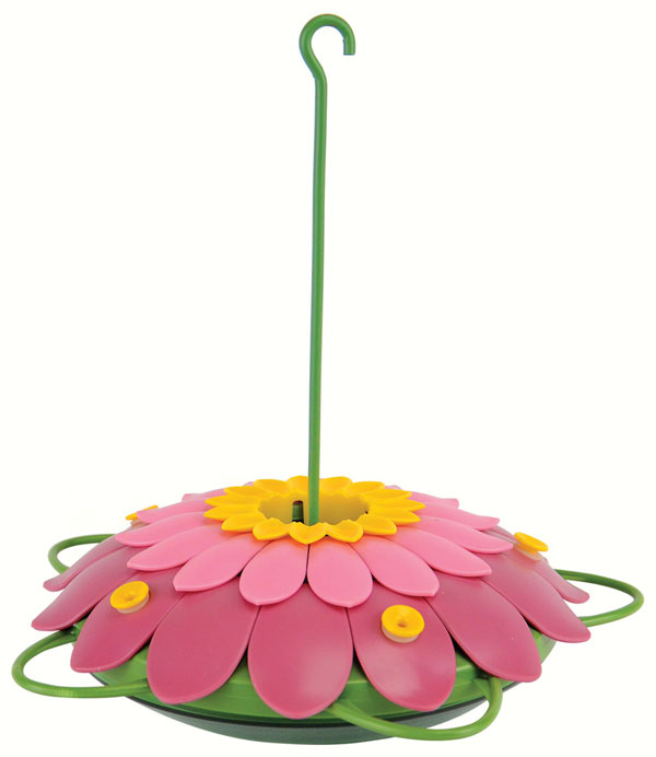 Pink 3D Flower Hummingbird Tray Feeder