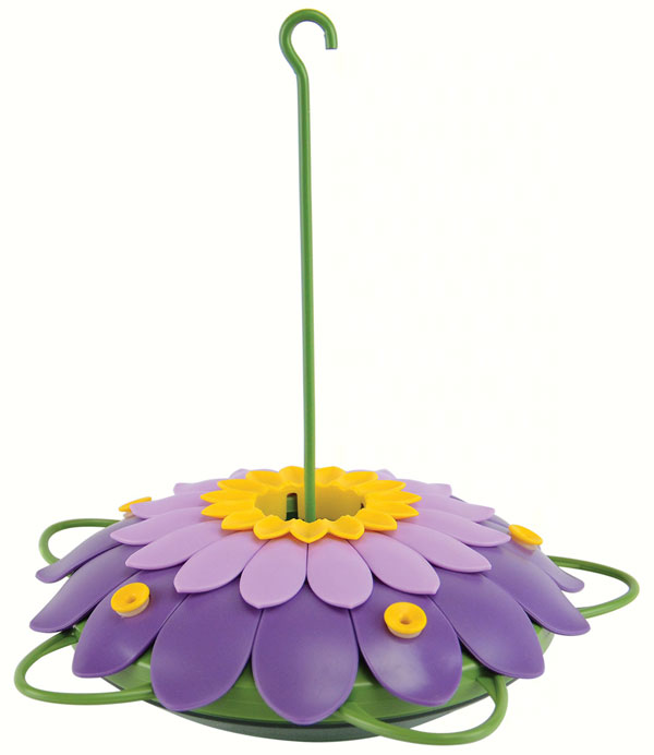 Purple 3D Flower Hummingbird Tray Feeder