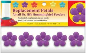 Dr.JB's Feeder Replacement Purple Port Flowers