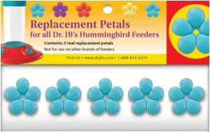 Dr.JB's Feeder Replacement Teal Port Flowers