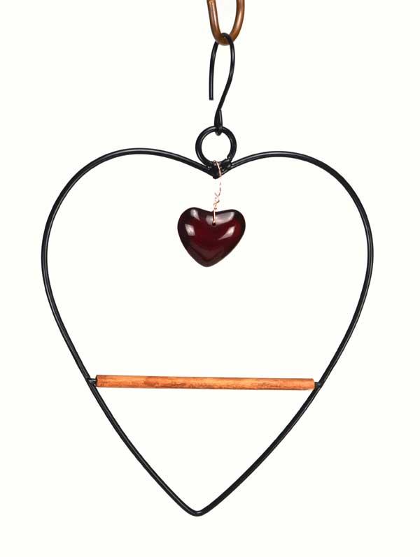 Black Tweet Heart Hummingbird Swing