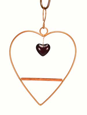 Copper Finish Tweet Heart Hummingbird Swing