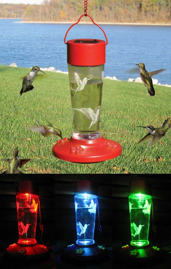 Solar Powered Hummingbird Feeder