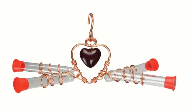 Tweet Heart 4 Tube Hummingbird Feeder