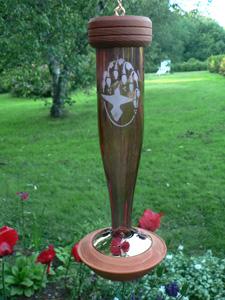 Schrodt Etched Decorative Hummingbird Feeder - PBBSHBLRE