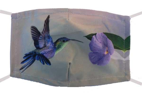Hummingbird and Flower Mask