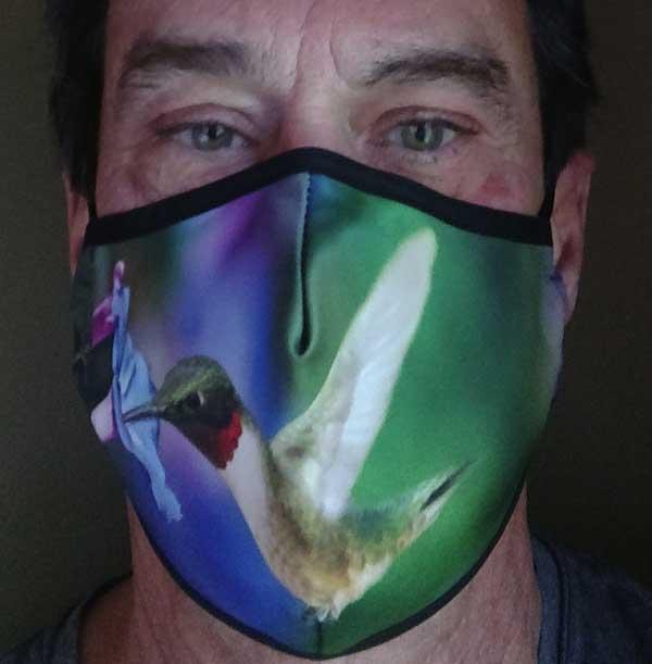 Ruby-throated Hummingbird Face Mask 1