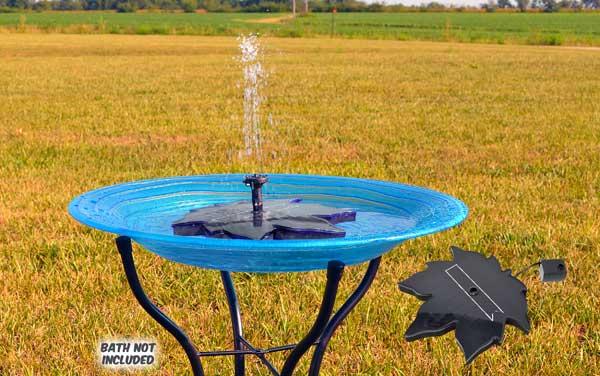 Floating Leaf Solar Birdbath Bubbler