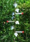 Plant Hanger with Tube Hummingbird Feeders