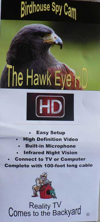 Hawk Eye Nature Cam Instructions