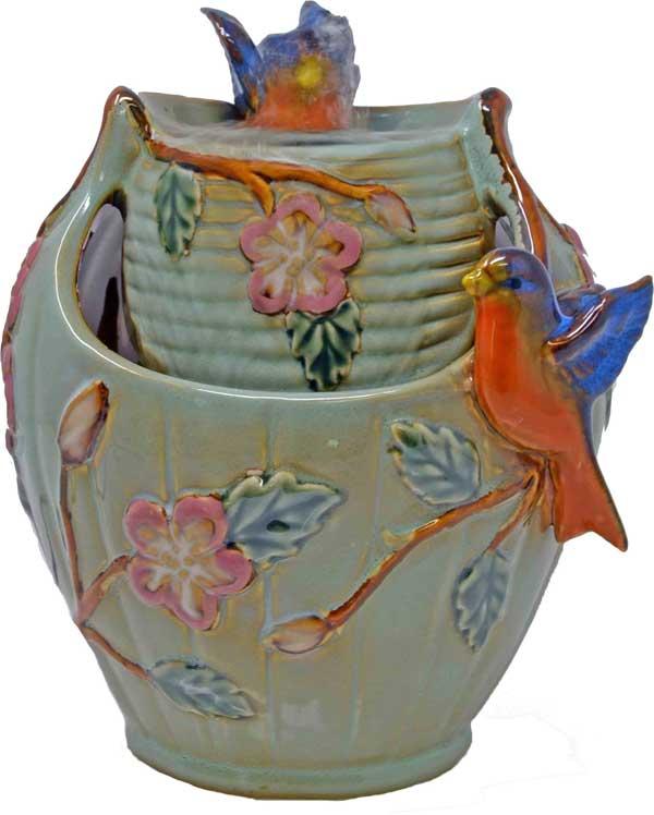 Bluebird Tabletop Ceramic Fountain