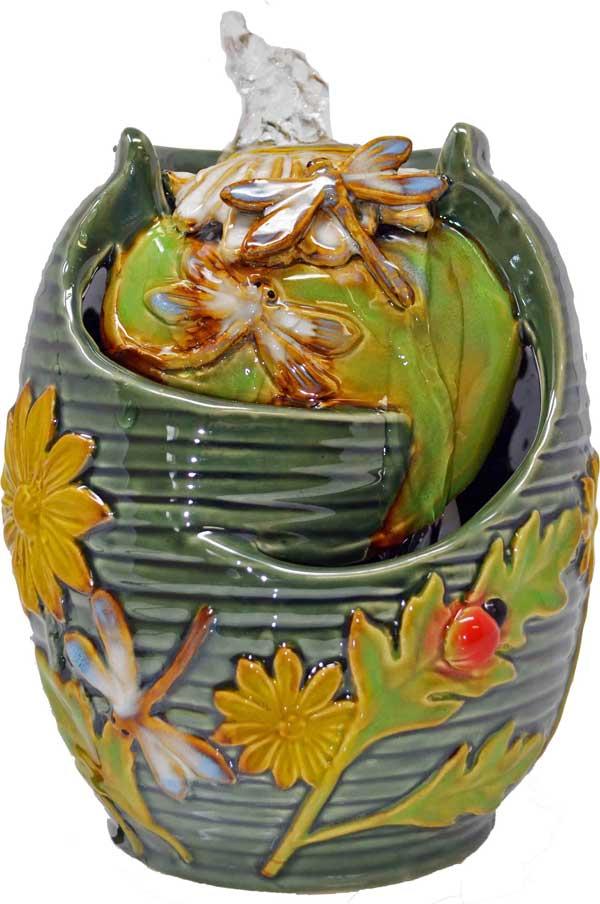 Dragonfly Tabletop Ceramic Fountain