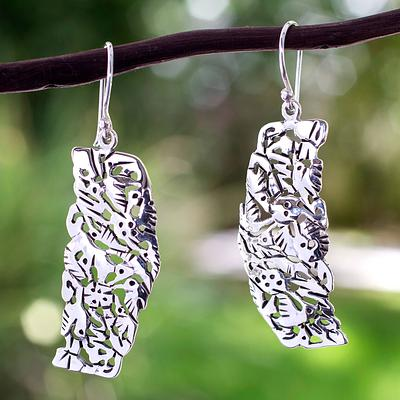 Hummingbird Mystique Sterling Silver Bird Earrings