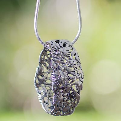 Hummingbird Mystique Sterling silver pendant necklace