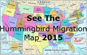 Hummingbird Migration Map 2015