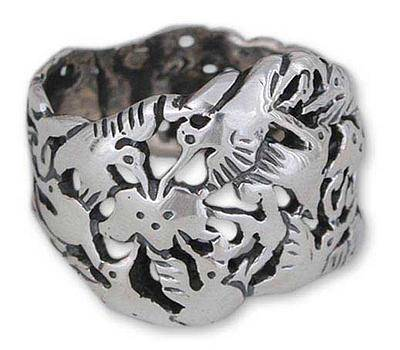 Hummingbird Mystique Hand Made Taxco Fine Silver Bird Ring