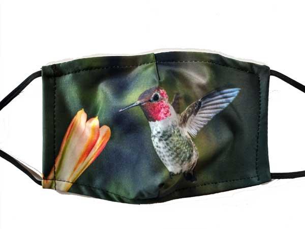 Ruby-throated Hummingbird Face Mask 2